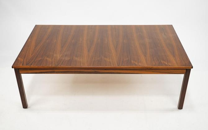 Large Brazilian Rosewood Rectangular Coffee Table