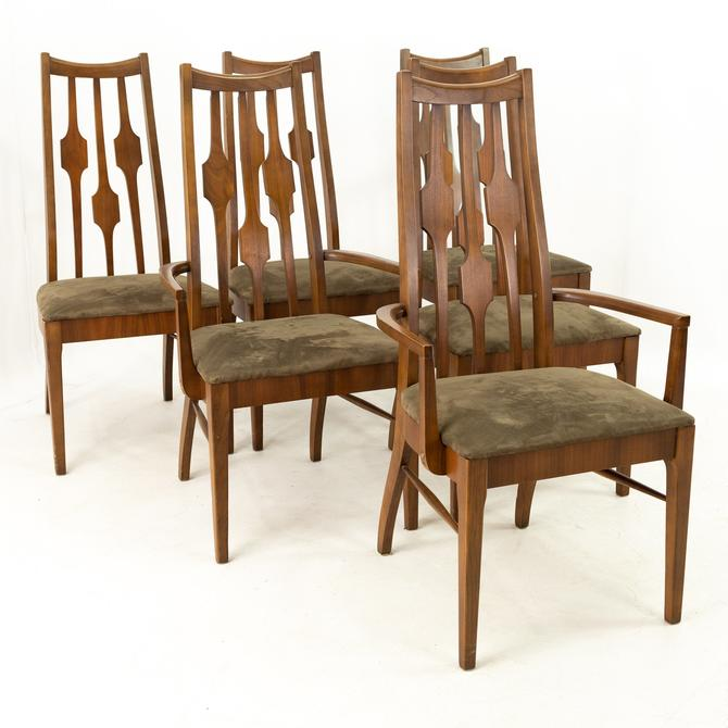 Consolidated Furniture Mid Century Walnut Dining Chairs - Set of 6 - mcm by ModernHill