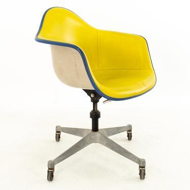 Eames for Herman Miller DAT Mid Century Fiberglass Shell Desk Office Chair on Casters - mcm by ModernHill