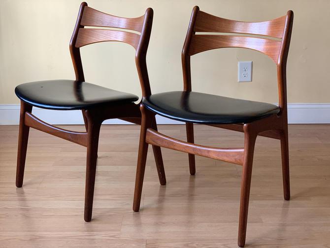 Six Danish Teak dining chairs MODEL 310 by Erik Buch (Erik Buck) by ASISisNOTgoodENOUGH