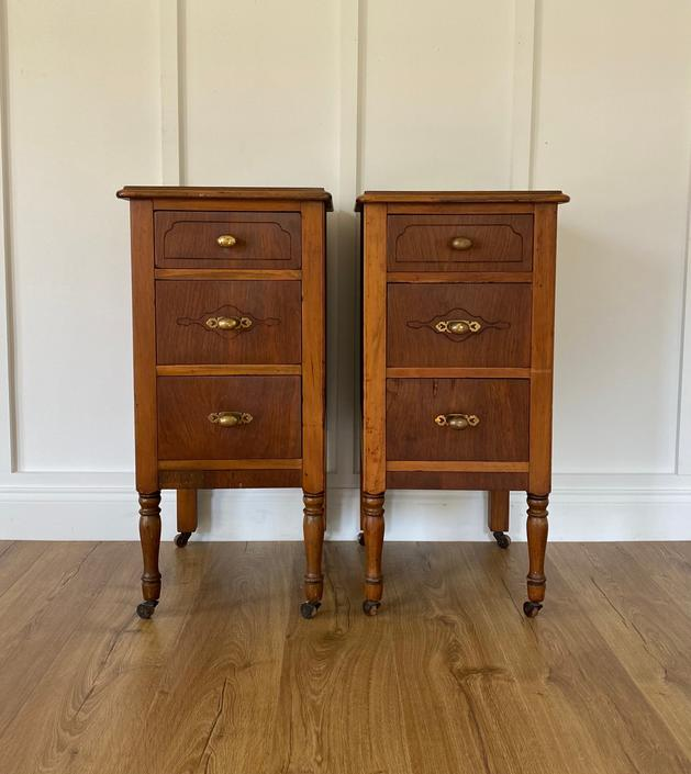 NEW - Vintage Nightstands, End Tables, Matching Side Tables by ForeverPinkVintage
