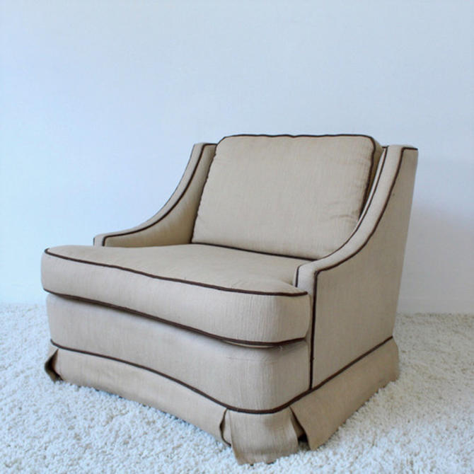 1960's 2 tone Vintage Club Chairs