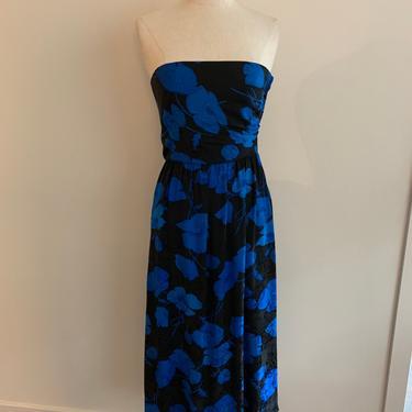 Albert Nipon strapless floral silk jacquard dress-Size XS by MartinMercantile