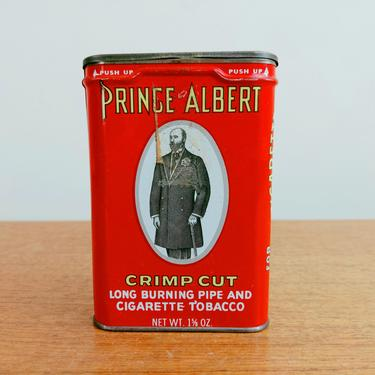 Vintage Prince Albert Tobacco Tin | Pipe and Cigarette | Crimp Cut | R. J. Reynolds by TheFeatheredCurator