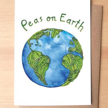 Peas on Earth Greeting Card + Envelope