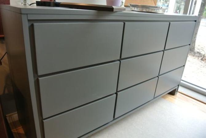 Grey painted MCM dresser. $550