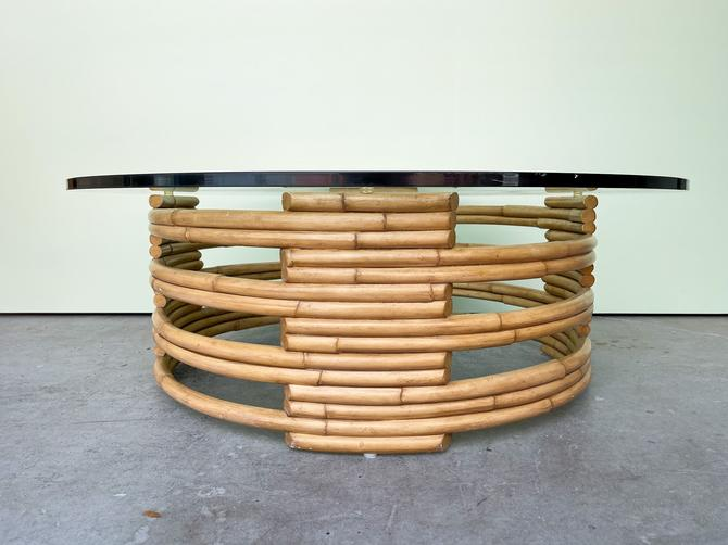 Frankl Style Rattan Coffee Table By Ralph Lauren
