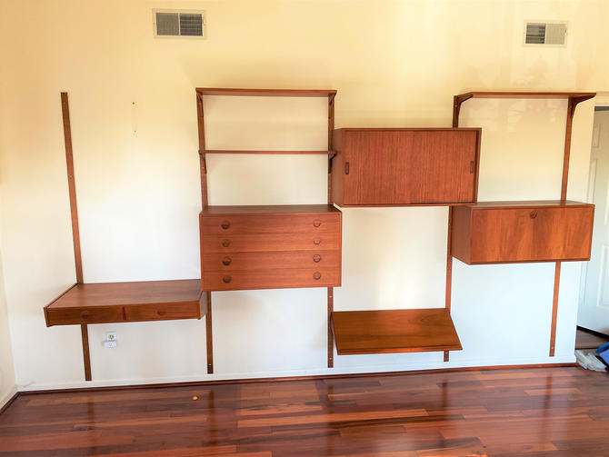 Mid-Century Danish Modern Teak Wall Unit System by AnnexMarketplace