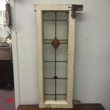 Antique English Leaded Stained Glass by PickeryPlace