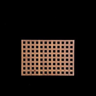 "Vintage Mid Century Modern DANSK Teak Wood Trivet Jens Quistgaard Design 11"" x 7.5"" Trellis Design by SwankyChaperooo"