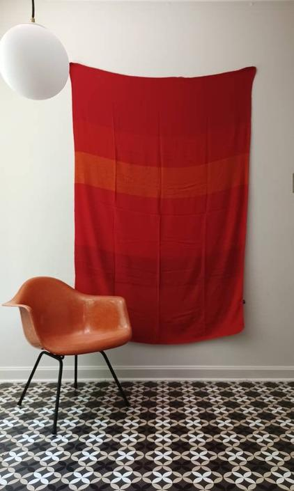 Large SAS Scandinavian Airlines Flag Coverlet Quilt Pop Textile Wall by CaribeCasualShop