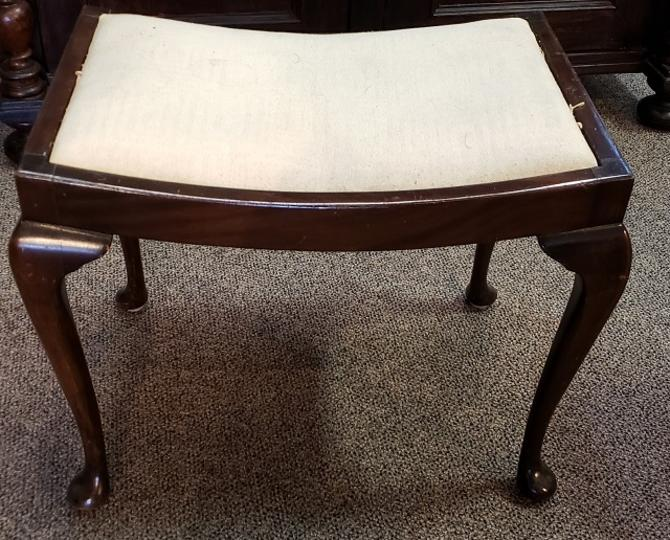 Item #KR1 Vintage Mahogany Vanity Seat