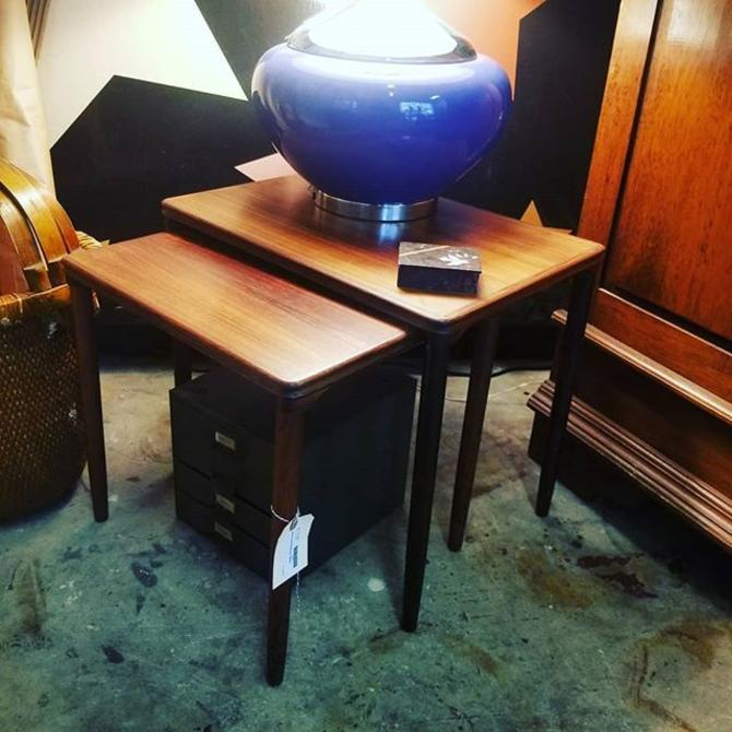 Mid Century nesting tables. $175