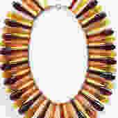 Vintage Apple Juice Bakelite Egyptian Collar Necklace by LegendaryBeast
