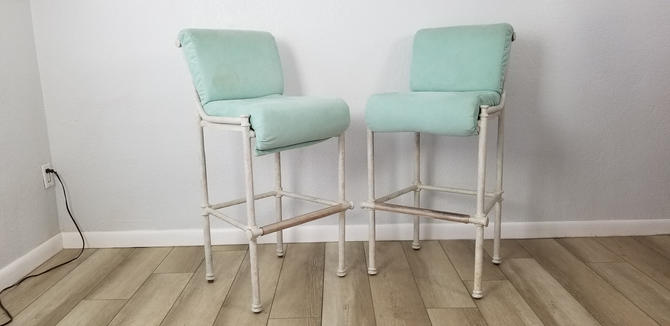 Diego  Giancometti Style Hollywood Regency Bar Stools A Pair . by MIAMIVINTAGEDECOR
