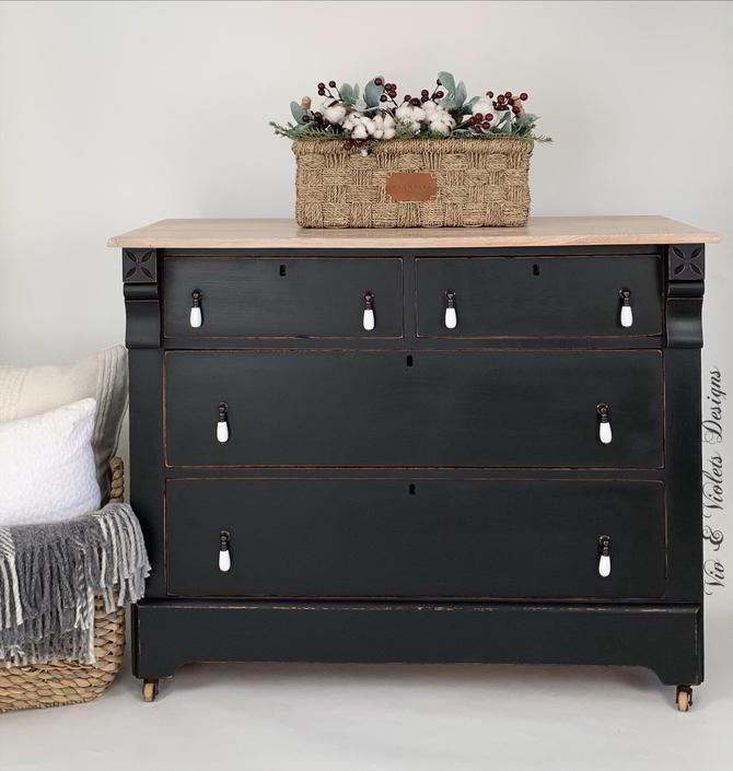 SOLD***Antique Farmhouse Dresser / Bureau / Chest of Drawers / Entryway / Bedroom / Dining Room by VivAndVioletsDesigns