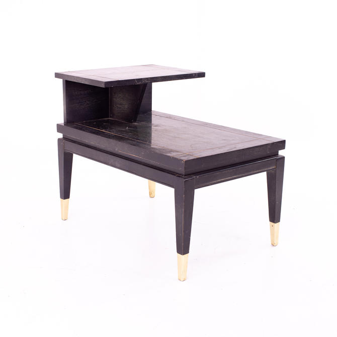 Lane Mid Century Two Tier Brass Accented End Table - mcm by ModernHill