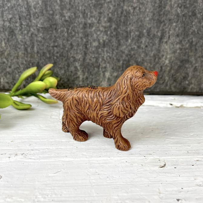 Bar Harbor ME souvenir spaniel - vintage resin dog by NextStageVintage