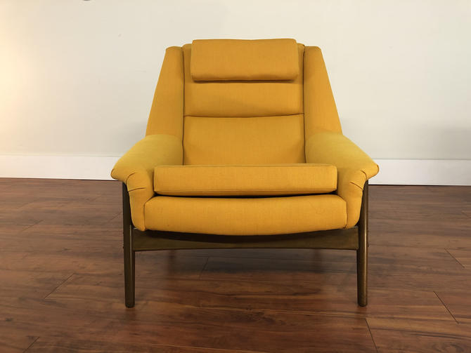 Dux Folke Ohlsson Large Mid Century Lounge Chair by Vintagefurnitureetc