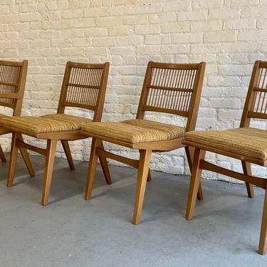 Mid Century MODERN Spindle Back DINING CHAIRS by Red Lion Furniture, Set of 4 by CIRCA60
