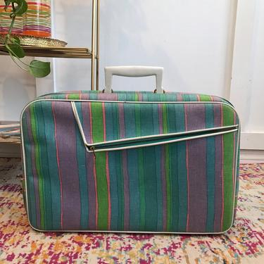 Mod 60s Luggage Canvas Suitcases organization, travel, overnight bag Made In Japan by VintageCoreReStore