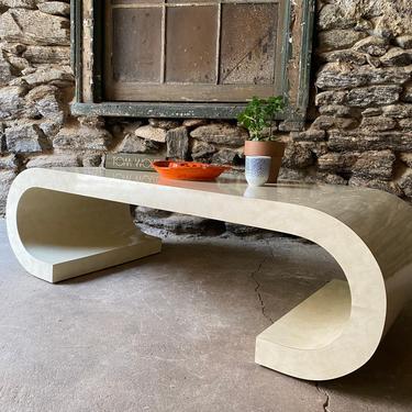 Mid century modern coffee table Italian modern coffee table scroll occasional table by VintaDelphia