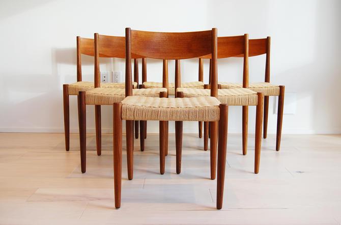 6 Danish Modern Frem Rojle Teak Dining Chairs Made in Denmark by MidCentury55