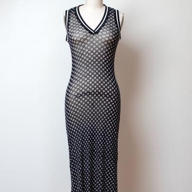 1990s Daisy Print Mesh Dress | Vivienne Tam by FemaleHysteria