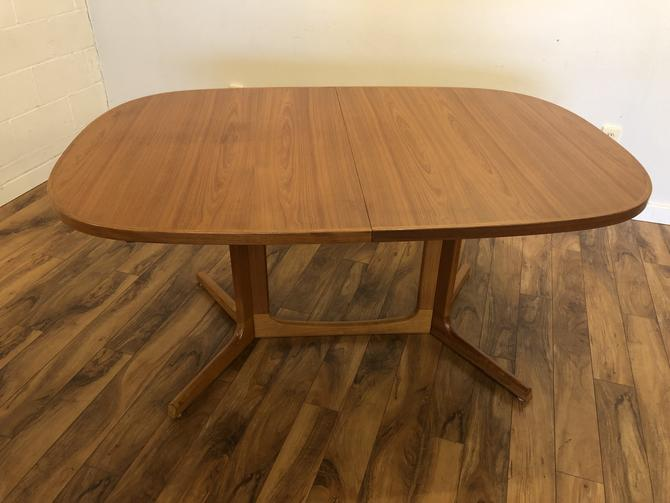 Teak Oval Expandable Dining Table from Norway