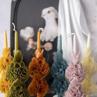 Sculptural Floral Candle