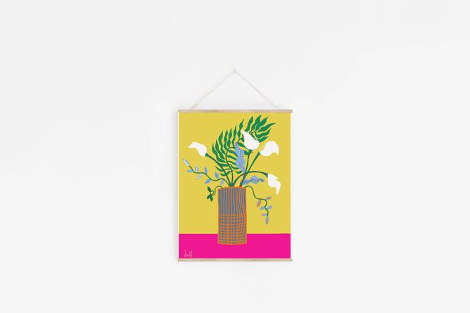 Modern Flower Arrangement | Fun cubicle decor | Valentines Day Gift by VioletredStudio