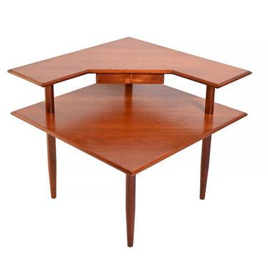 Teak Corner Table Danish Modern by HearthsideHome