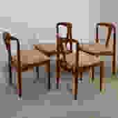 Set of 4 Johannes Andersen for Uldum Møbelfabrik Juliane Teak Dining Chairs