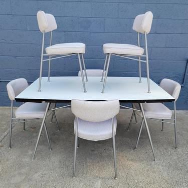 Mid-Century Modern Steel Dining Dinette Set by Daystrom by JanakosAndCompany