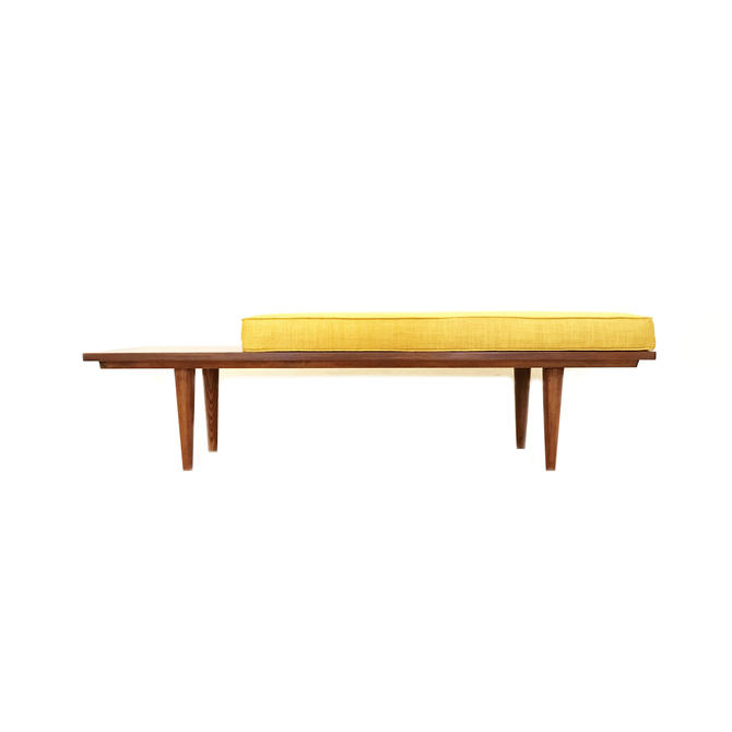 Custom Mid Century Bench In Teak for lotus by minthome