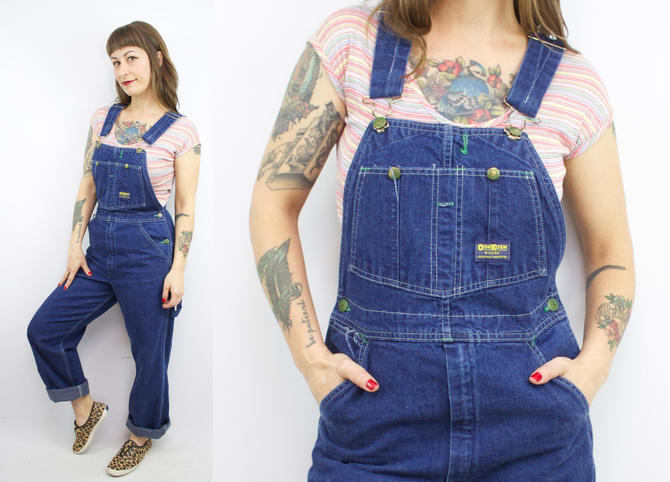 luxuriant in design new concept beautiful in colour Vintage 80's 90's Dark Blue Denim Overalls / 1980's OshKosh B'Gosh OVERALLS  / Denim Workwear / Women's Size Small by RubyThreadsVintage