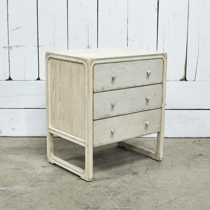 Peking Side Table With 4 Drawers - Off White