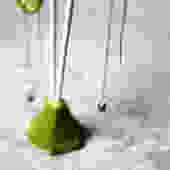 14k Yellow Rough Diamond Ear Thread Dangles by RachelPfefferDesigns