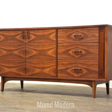 Stunning Walnut & Rosewood Dresser Credenza by Kroehler by mixedmodern1