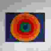 Framed Retro Circle Textile