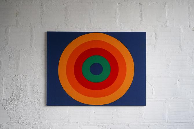 Framed Retro Circle Textile