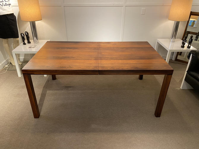 Tri-Wood Parsons Style Dining Table by Drylund, Circa 1960s - Please ask for a shipping quote before you purchase. by CoolCatVintagePA