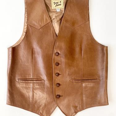 Tony Lama Buttery Butterscotch Leather Vest