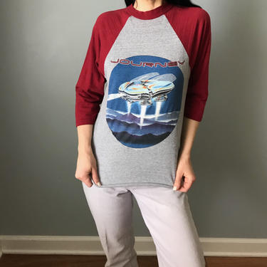 RARE vintage 1982 Journey concert t-shirt | original Escape tour shirt | raglan baseball tshirt by LosGitanosVintage