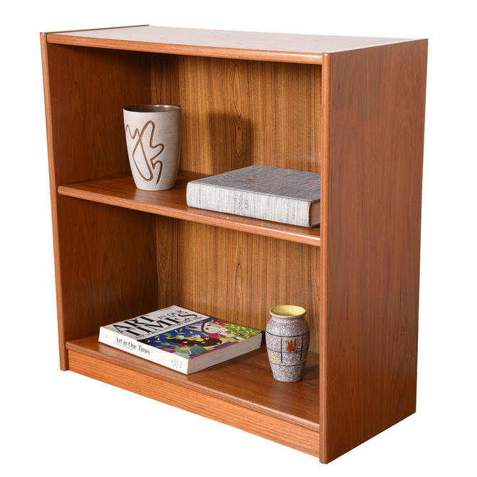 Petite Danish Modern Bookcase in Teak
