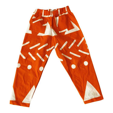 KENZIE TROUSERS - Orange Abstract