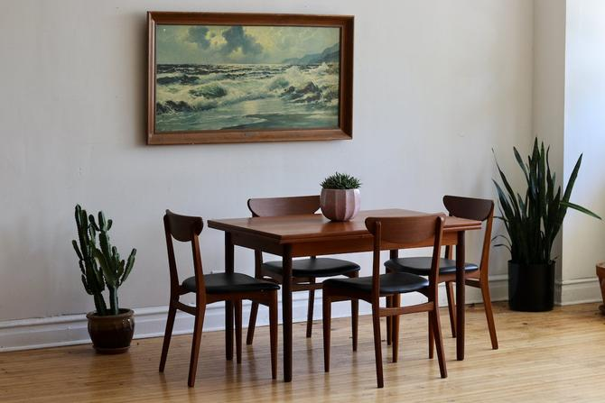 Mid Century Danish Modern Teak Dining Set by SharkGravy
