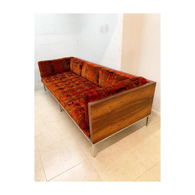 Mid Century Rosewood Case Sofa Jack Lenor Larsen by FlipAtik