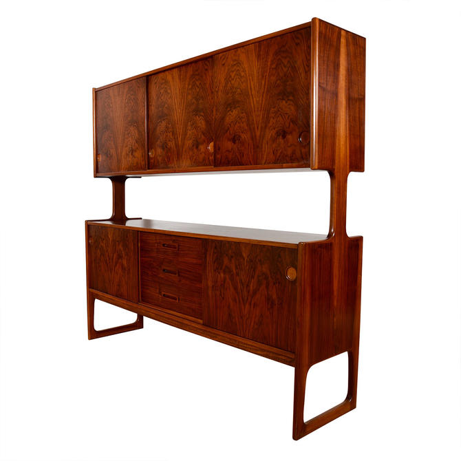 The Double-Decker >> Danish Modern Rosewood Highboard \/ Room Divider