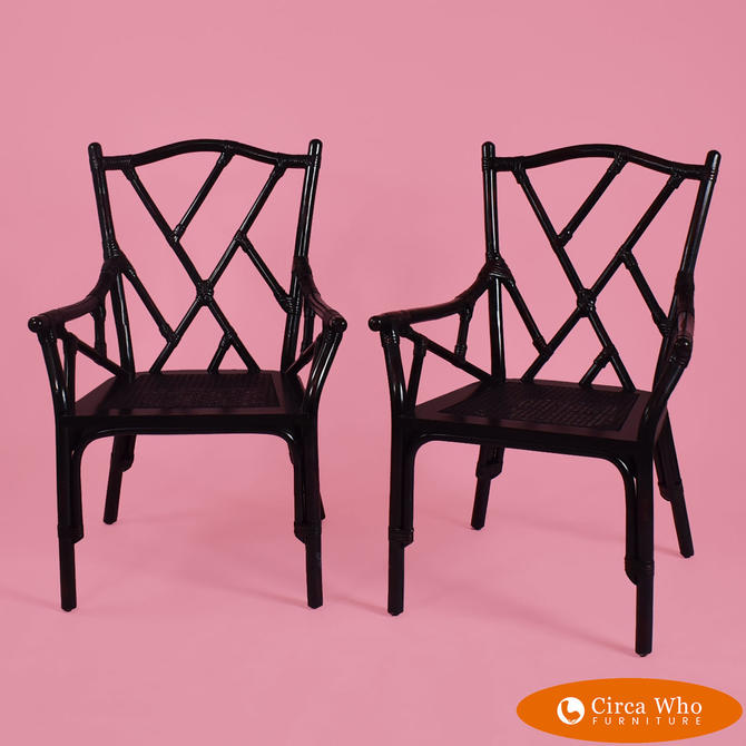Pair of Fretwork Arm Chairs